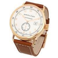 ハミルトン時計HAMILTONH77745553カ−キネイビ−パイオニアメンズ腕時計ウォッチシルバ−/ピンクゴ−ルド/ブラウン