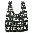 マリメッコ エコバッグ MARIMEKKO 41395 910 MARILOGO SMARTBAG スマートバッグ 折りたたみ トートバッグ BLACK/WHITE【new1120】