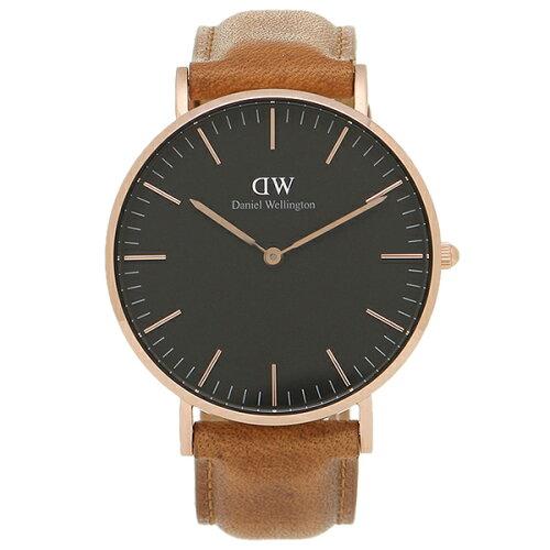 ダニエルウェリントン 腕時計 Daniel Wellington DW00100138 ブラック/ブラウン/ローズゴールド
