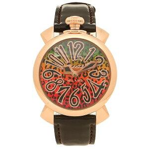 GAGA MILANO 腕時計 レディース ガガミラノ 5021ART01-BRW ブラウン マルチカラー