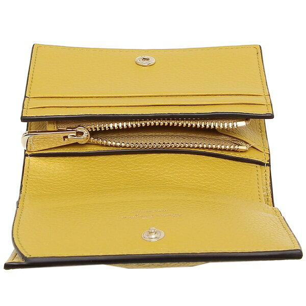 SalvatoreFerragamo二つ折り財布ヴァラミニ財布イエローレディースサルヴァトーレフェラガモ22D5140741318