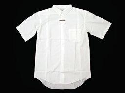 【オフホワイト】細衿レギュラーシャツ半袖・サイドタック・通常丈78cm波型 [男子スクールシャツ] 通学用学生シャツ ★2枚で送料無料★ PH5152