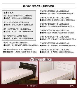 棚照明付きラインデザインベッド(ボンネルコイルマットレス付)キング180