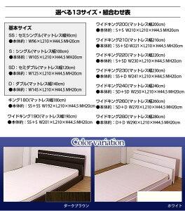 棚照明付きラインデザインフロアベッド(ポケットコイルマットレス付)セミダブル