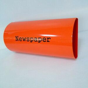 【送料無料】郵便ポスト郵便受けおしゃれかわいい人気北欧モダンデザインメールボックス壁掛けプレミアムステンレスオレンジ色ポスト+新聞紙ホルダー(orange)