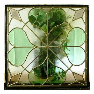 【送料無料】ステンドグラスステンドグラスガラス三層パネル窓ドア枠セット
