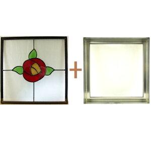 ステンドグラスステンドグラスガラス三層パネル窓ドア枠セットsgsq419f