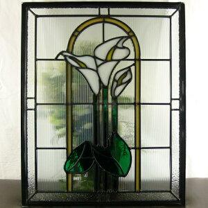 ステンドグラスステンドグラスステンドガラスデザインパネル500x400sgsm404
