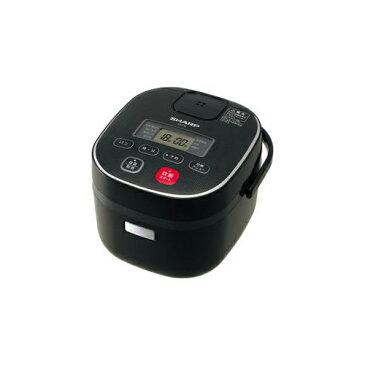 SHARP KS-C5L-B ジャー炊飯器 (3合炊き) ブラック系
