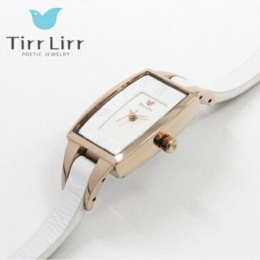 TirrLirr 腕時計 ジュエリー ウォッチ ブランド レディース 革ベルト twc-003WH