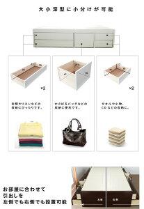 ダブル:フレームのみスライドレール引出大収納ヘッドレスチェストベッドホワイト(white)ブラウン(brown)ベッドフレームヘッドレス収納ベッド引出床下収納F4スター日本製