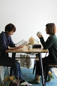ホワイト(white):テーブル80インダストリアルスタイルダイニング★サニーベル送料無料