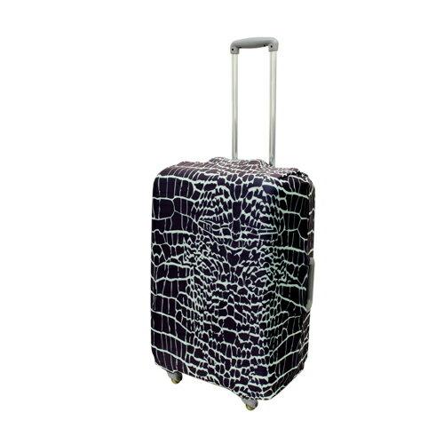 ミヨシ 撥水加工付スーツケースカバ- Mサイズ クロコダイル柄 MBZ-SCM2/CR