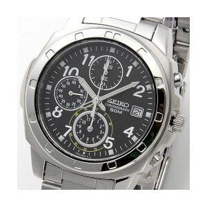 SEIKO(セイコー)腕時計クロノグラフSND195Pブラック/アラビア