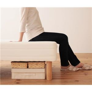 【送料無料】マットレスベッドセミダブル脚22cm新・移動ラクラク!分割式ポケットコイルマットレスベッド