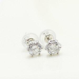 プラチナ0.6ctダイヤモンドスタッドピアス