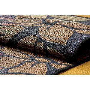 純国産袋織い草カーペット『なでしこ』ブルー江戸間4.5畳(約261×261cm)
