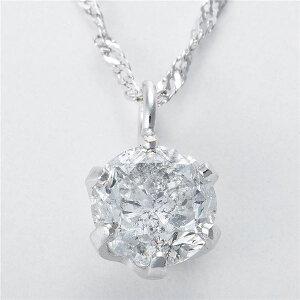 純プラチナ0.3ctダイヤモンドペンダントスクリューチェーン