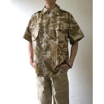 【スーパーセールでポイント最大43倍】イギリス軍 放出 DP Mシャツ 半袖 デザト カモ( 迷彩) J S106NN M〜 Lサイズ 【 デットストック 】 【 未使用 】