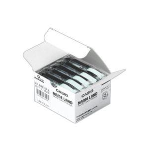 【ポイント20倍】(まとめ) カシオ(CASIO) NAME LAND(ネームランド) スタンダードテープ 9mm 黄(黒文字) 5個入×20パック