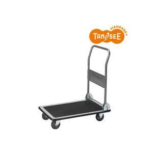 (まとめ)TANOSEEスチール台車150kg荷重黒3台