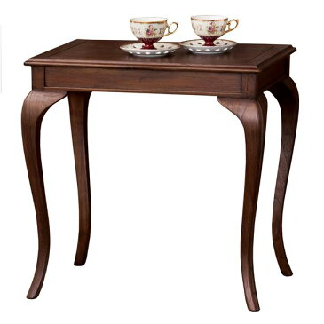 猫足コーヒーテーブル/サイドテーブル 【幅61cm】 木製 『ウェール』 アンティーク調家具 【完成品】