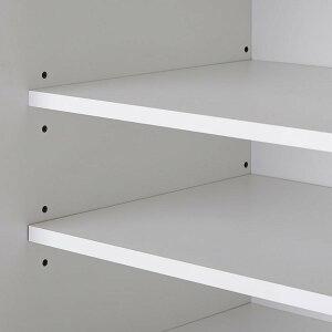 【開梱設置費込】食器棚RNシリーズ120cm幅ダイニングボードキッチンボード白木目ハイグロス【日本製】【代引不可】