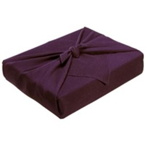 (業務用5セット)ながとや正絹ちりめん風呂敷ユ-022紫無地【×5セット】