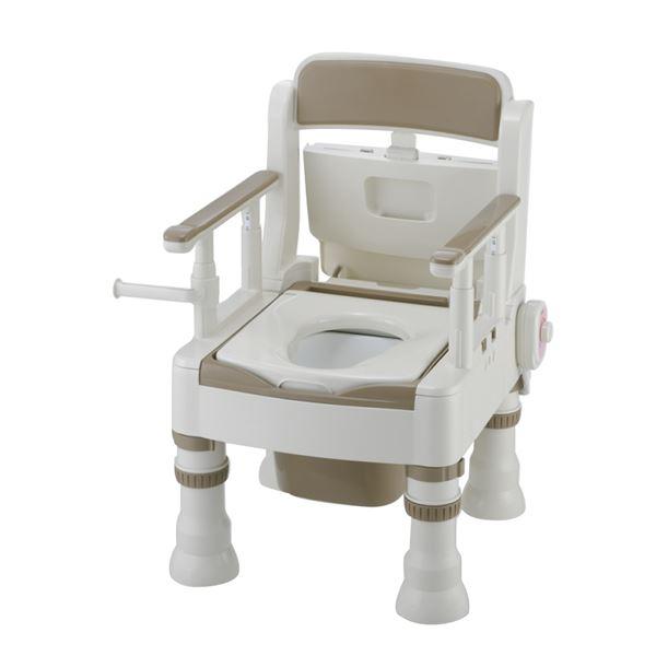【ポイント20倍】リッチェル 樹脂製ポータブルトイレ ポータブルトイレきらくミニでか(5)MH型アイボリー 45621:インテリアの壱番館