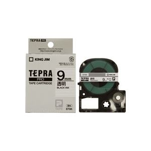 (業務用50セット)キングジムテプラPROテープST9K透明に黒文字9mm【×50セット】