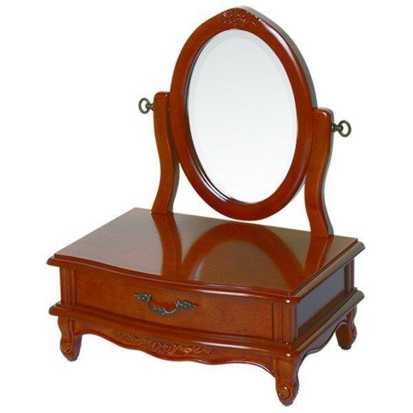 【ペット用家具】Fiore(フィオーレ) 鏡台(ドレッサー) 高さ65cm アンティークブラウン【代引不可】:インテリアの壱番館