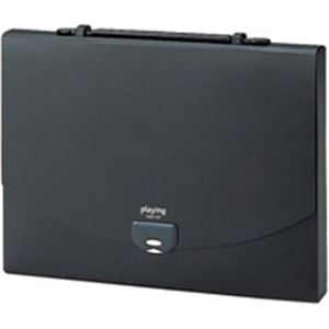 【ポイント20倍】(業務用50セット) セキセイ プレイングケース AP-952 A4 黒:インテリアの壱番館