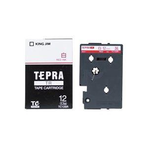 (業務用30セット)キングジムテプラTRテープTC12SR白に赤文字12mm【×30セット】