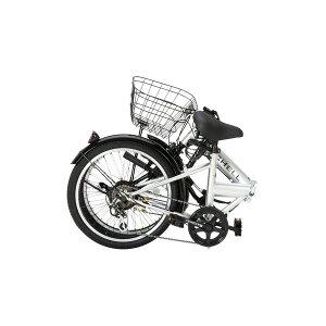 折りたたみ自転車20インチ/シルバー(銀)シマノ6段変速ノーパンク仕様【Raychell】レイチェルR-241N【代引不可】