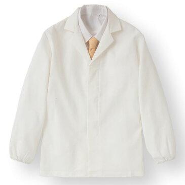 【スーパーセールでポイント最大43倍】ワッフル白衣長袖 ホワイト KMH2740-1 3Lサイズ