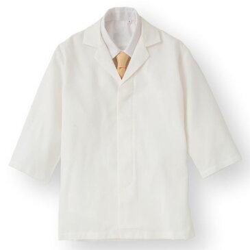 【スーパーセールでポイント最大43倍】ワッフル白衣七分袖 ホワイト KMH2741-1 Mサイズ