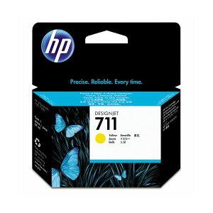 (まとめ)HP711インクカートリッジイエロー29ml染料系CZ132A1個【×3セット】