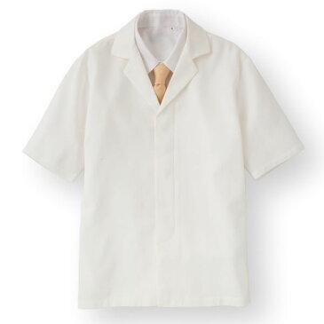 【スーパーセールでポイント最大43倍】ワッフル白衣半袖 ホワイト KMH2742-1 Lサイズ