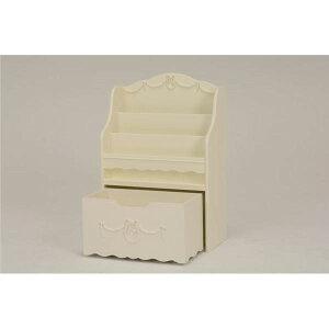 絵本ラック(ブックスタンド/子供部屋家具)幅60cm木製引き出し収納付きRCC-1858WHホワイト(白)【代引不可】