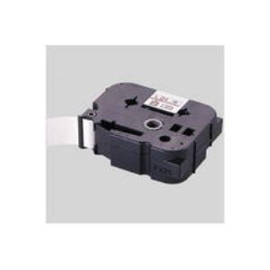 【ポイント20倍】(業務用30セット) マックス 文字テープ LM-L512BR 赤に黒文字 12mm:インテリアの壱番館