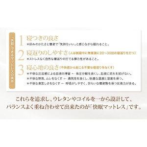 マットレスキング【EVA】ブラウンホテルプレミアムボンネルコイル硬さ:かため日本人技術者設計超快眠マットレス抗菌防臭防ダニ【EVA】エヴァ