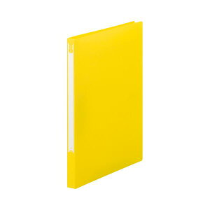 (まとめ)TANOSEEZファイル(PP表紙)A4タテ100枚収容背幅20mmイエロー1セット(10冊)【×5セット】