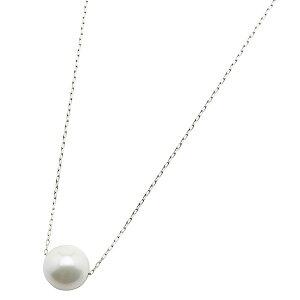 アコヤ真珠ネックレスパールネックレスK18ホワイトゴールド8mm8ミリ珠40cm長さ調節可能(アジャスター付き)あこや真珠ペンダントパール本真珠