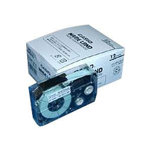 (業務用セット)カシオネームランド用テープカートリッジスタンダードテープ8m5巻入XR-12WE-5P-E白黒文字【×2セット】
