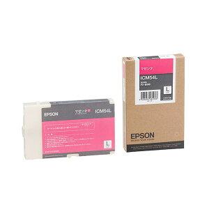 (まとめ)エプソンEPSONインクカートリッジマゼンタLサイズICM54L1個【×3セット】
