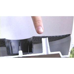アートストーントールラウンドベージュφ42×H90cm】底面給水型植木鉢(底栓付)