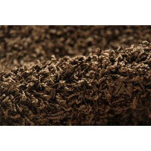 ラグカーペット3畳防炎抗菌防臭防ダニシャギータフト国産無地『シャンゼリゼ』ブラウン約190×240cm