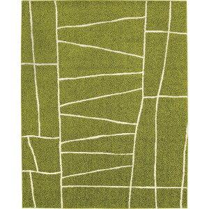 ラグマットカーペット正方形ホットカーペット対応日本製『ジオーニ』ライトグリーン190×190cm【代引不可】