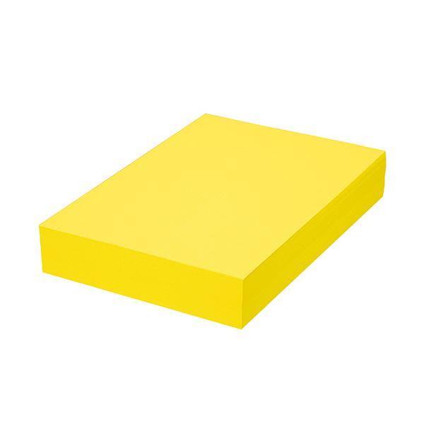 (まとめ) TANOSEE αエコカラーペーパーIIシトラスイエロー A4 1セット(2500枚:500枚×5冊) 【×5セット】画像