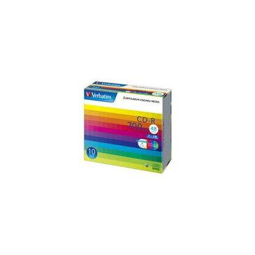 (まとめ)バーベイタム データ用CD-R700MB ワイドプリンタブル 5mmスリムケース SR80SP10V1C 1箱(100枚:10枚×10個)【×3セット】